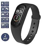 45 Fitness Tracker - Reloj de pulsera para hombre y mujer, resistente al agua, negro
