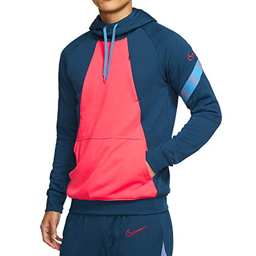 NIKE CD1117-432 Blouse, Valerian Blue/Laser Crimson, L Mens