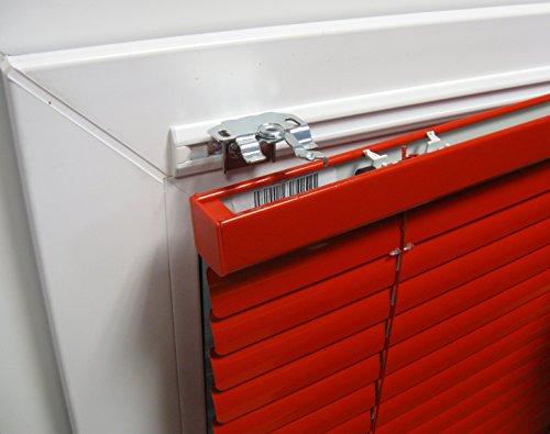 ps QUICKFIX Klebeleisten für Jalousien - auf Maß - bohrfreie Montage am Rahmen Ihres Aluminium- oder Kunststofffensters - Hier bis 100 cm Breite