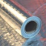 Papel de Aluminio Adhesivos de Pared, Autoadhesivo Anti- Aceite Aislante Térmico Película, Armario Pegatinas a Prueba de Humedad Cocina Almohadilla Extraíble para Cocina Habitación - 2#, 40cmx5m