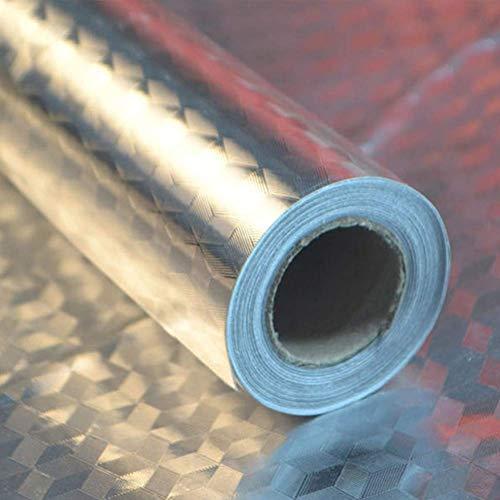 Papel de Aluminio Adhesivos de Pared, Autoadhesivo Anti- Ace