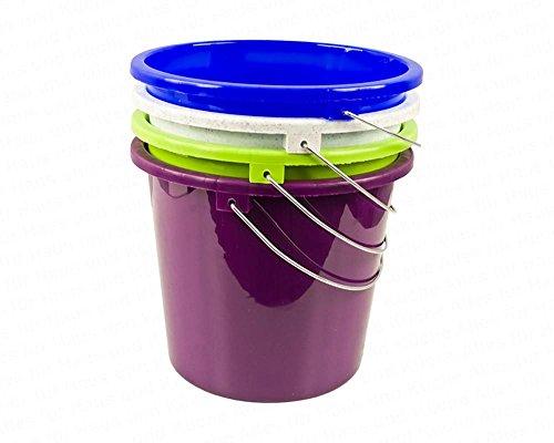 Centi huishoudemmer met metalen beugel, 5 liter, op kleur gesorteerd, polypropyleen, 1 stuk