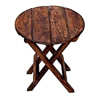 Mangowood Folding Table / Side Table / Coffee Table Size: 12x12x12 In Inches (WxDXH) This multipurpose table can be used for any showpiece on it Feature: Foldable table, easy to carry anywhere. A perfect gift item for you No Assembly Need: This produ...