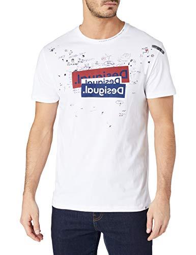 Desigual TS_Canaan Camiseta, Blanco, L para Hombre