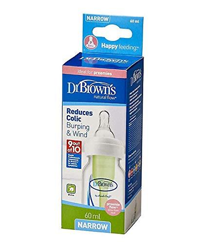 Dr. Brown's estrecho, reduce cólicos - Biberón, 60 ml