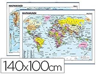 Edigol 6108.5 - Mapa mural: Aa.Vv.: Amazon.es: Oficina y papelería