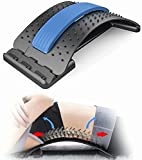 TTCDBF Back Stretcher for Pain Relief, Spine Deck with 3 Adjustable Settings, Upper & Lower Back Pain Relief Stretcher for Spinal Decompression, Spine Aligner for Bed, Chair & Car with Massager, Blue