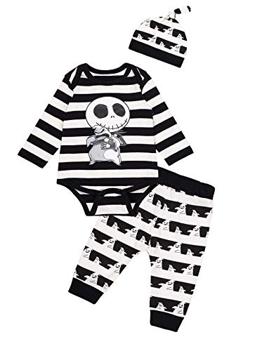 Halloween Baby Boy Outfit Nightmare Before Christmas Pants Set and Skull Clothes
