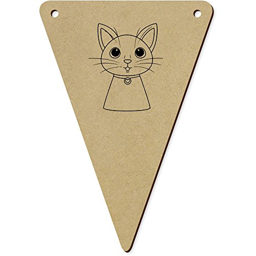 Azeeda 5 x 140mm 'Tête de Chat' fanions Triangles (BN00048678)