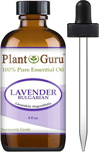 Lavender Essential Oil 4 oz (Bulgarian) 100% Pure Undiluted Therapeutic Grade for Skin, Body and Hair Growth, Aromatherapy Diffuser, Great for Relaxation and Calming, Natural Sleep Aid.