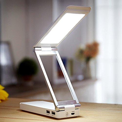 Lampe de table F Lampe de bureau LED · Perles de lampe LG · 5W de lecture · Lampe de chevet de chambre à coucher Mini · Lampe pliante de charge de Dimmable