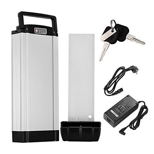 YOSE POWER E-Bike Batterie 36V 10Ah Pedelec Akku mit Halterung Ladegerät für E-GO!, Wondervelo, Hapex, City Line F1, F2, M1 und M2