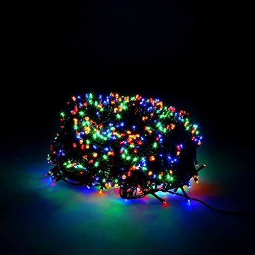 Maurer Lichterkette, Weihnachten, 300 LEDs, mehrfarbig Weihnachtsbeleuchtung innen und außen IP44
