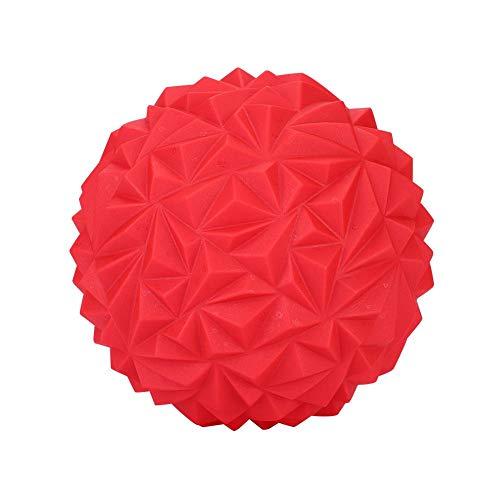 Tomantery Media Bola de Yoga Engrosada para Gimnasio, Fitness para niños y Adultos para Ejercicio de Pilates(Black, Red)