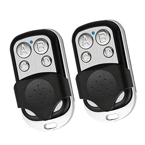 SGerste - Juego de 2 mandos a distancia universales para puerta de garaje, sistema electrónico de alarma de coche con cerradura de vehículo - Respalde tus mandos a distancia - D, 6 x 3 x 2 cm B