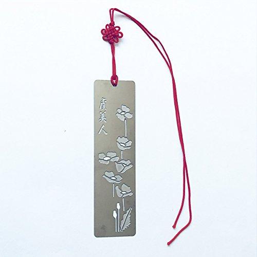 Happy Star® - Segnalibri in metallo con fiori in stile giapponese, per libri e feste, ideali come regalo