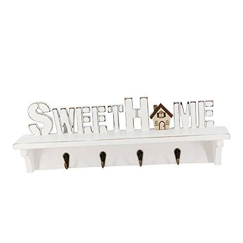 Sweet Home Wandbehang, rek, sleutelhanger, kledinghanger, wandbevestiging, haak voor wooncultuur