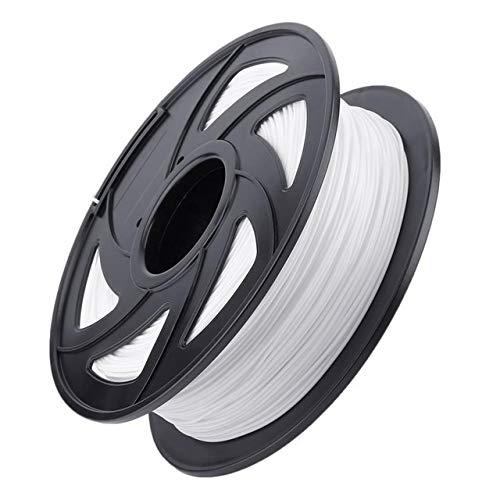 ZHANGDONG Impresora 3D Nuevo PLA Filamento Filamento de impresión Material 1,75 mm del Material En 3D Impresora Pen Imprimir filamento de Accesorios Precio razonable (Color : White)