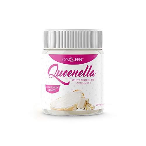 GymQueen Queenella 250g | Protein Creme mit 22% Eiweiß | Ohne Zuckerzusatz | Protein Brotaufstrich mit weißer Schokolade | Brot-Aufstrich, angereichert mit bestem Whey Protein | White Chocolate