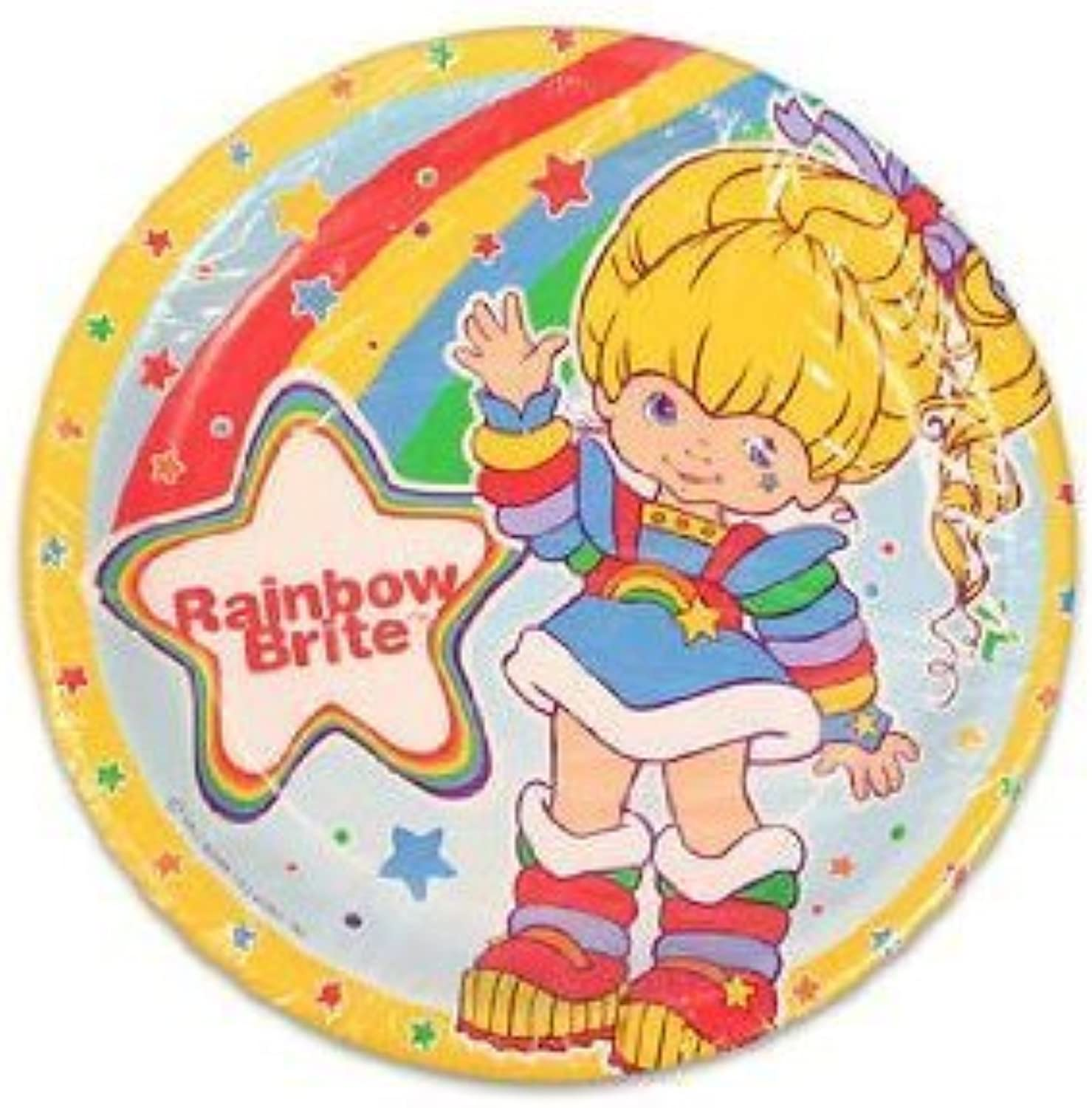 Rainbow Brite Luncheon Paper Party Plates (8 Count)
