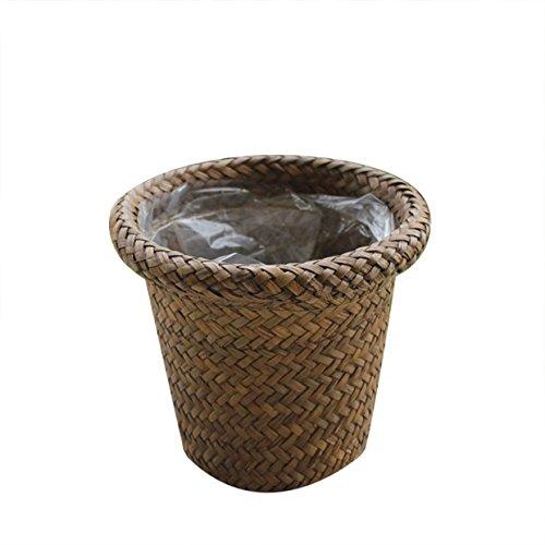 Vi.yo. Pot de Fleurs Succulent Bambou Fleur Panier Jardinage Plante en Pot Vase Maison Balcon Décoration