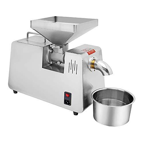 Máquina automática para la prensa de aceite Extractor de aceite de 550 W de grado comercial Expulsor de aceite para aguacate Coco Lino Oliva Cacahuete de ricino