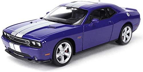 hclshops Modelo del Coche 1:24 de Dodge Challenger 2012 Simulación de aleación de fundición Adornos de Juguete Sports Car Collection 19x8.4x5.5CM joyería