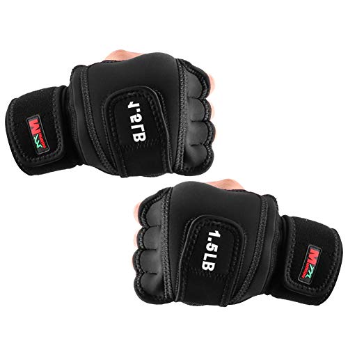 Weighted Gloves 3lb(1.5lb Each), Fitness Soft Iron Gloves Sandbag Weight Bearing Training Gloves with Wrist Support for Gym Boxing, Cross Training(3lb)