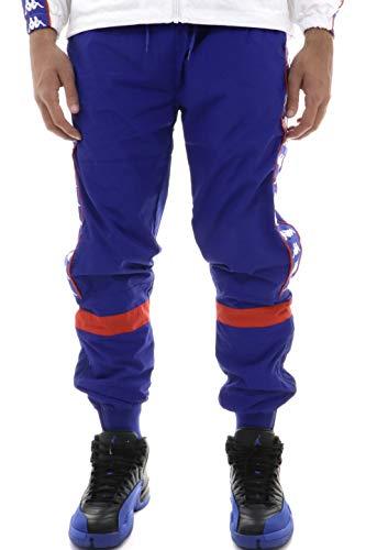 Kappa Pantalone Windbreaker Uomo Royal Con Bande laterali e Zip Stampa Con Logo 304QWI0905 L