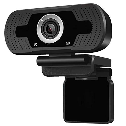 AIMIEI Webcam with Microphone, 1080P HD Streaming Web Camera, Plug and Play, Wide Angle USB Camera Compatible with PC Laptop/Desktop Mac/Skype/YouTube/Zoom/Facetime