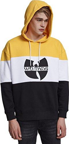 Wu Wear Herren Block Hoody Kapuzenpullover, Black/White/Yellow, L