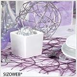 Deko AS GmbH Sizoweb Tischband zartrosa 30 cm Rolle 25 Meter – 64 033-R 300 - 2