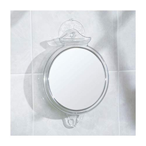 iDesign Fog-Free Suction Shower Shaving Mirror, Fogless...