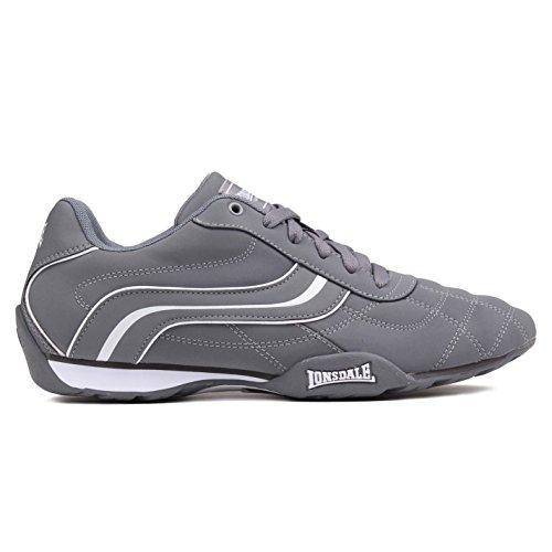 Lonsdale, Sneaker basse Camden da uomo con lacci, Grigio (Grigio e bianco.), 40 2/3 EU
