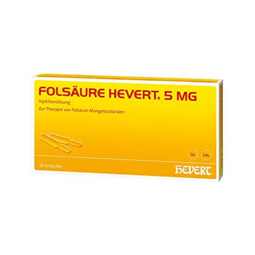 Folsäure Hevert 5 mg Ampullen, 10 St. Ampullen