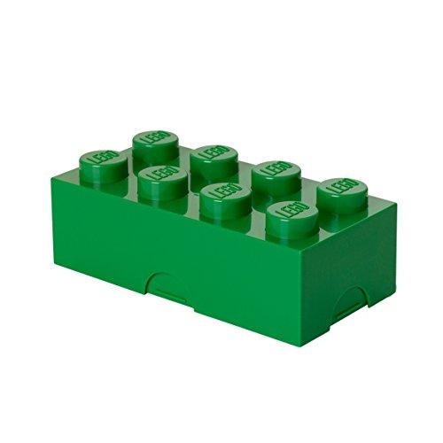 Room Copenhagen 40231734 Lunchbox Brotdose, 8 Noppen, Dark Green, 20 x 10 cm