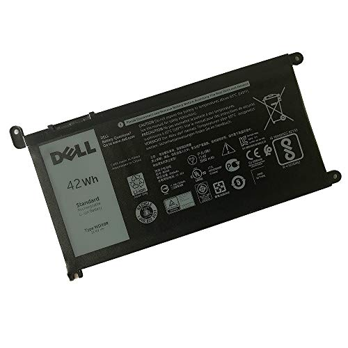 DELL WDX0R Notebook Battery 11.4V 42WH for DELL Inspiron 5368 5378 5379 5565 5567 5568 5570 5575 5578 5579 5765 5767 5770 5775 7368 7375 7378 7560 7569 7570 7573 7579 7580