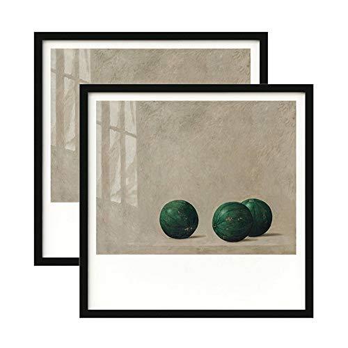 Foto Lijstje, Fotolijsten Zwart 2-pack Vierkante Fotolijsten (met Mat) Gemaakt Van Massief Hout En High Definition-glas Geweldig Voor Galerieweergaven, Afdrukken, Fotos(Size:35×35cm(14×14inch))