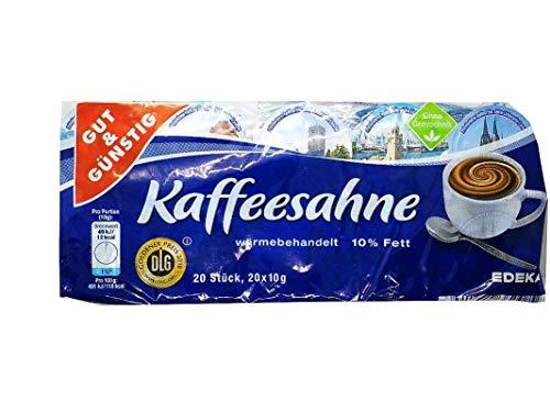 Kaffeesahne 20 x 10g GUT & GÜNSTIG 10% Fett