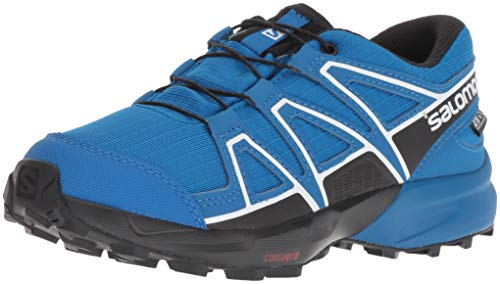 Salomon Kinder Speedcross, Trail Running Schuhe, ClimaSalomon Waterproof ,Blau/Schwarz,32 EU