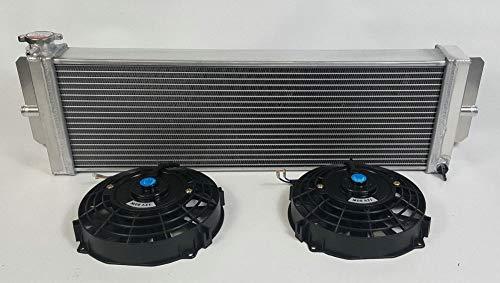 610 x 198 x 56 mm Universal Aluminium Flüssigwärmetauscher Luft zu Wasser Ladeluftkühler Turbo 61 x 20,3 x 6,3 cm Frontmontage + Lüfter
