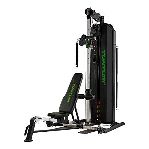 Tunturi Kraftstation HG80, Multigym mit 14 Gewichten a 5 kg, Fitnessstation, Gewichtsblock 70 kg