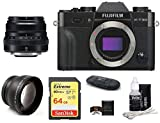 FUJIFILM X-T30 Mirrorless Digital Camera Body (Black) + XF 35mm f/2 R WR Lens (Black) Bundle, Includes: SanDisk 64GB Extreme SDXC Memory Card, Card Reader, Memory Card Wallet and Lens Cleaning Kit