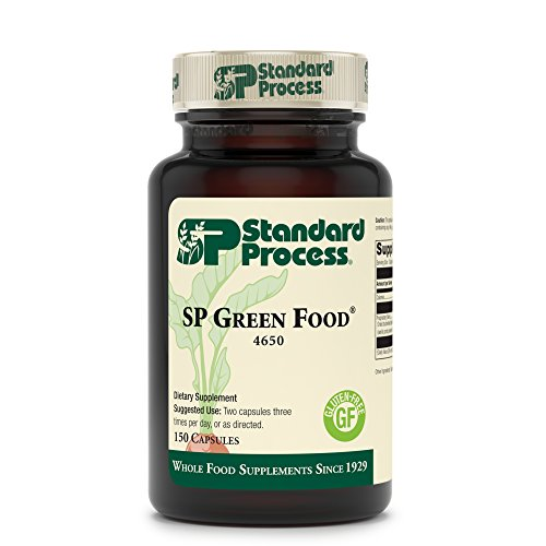Standard Process SP Green Food - Whole Food Metabolism, Cholesterol, Toxin, and Liver Support with Alfalfa, Buckwheat, Barley, Brussels Sprouts, and Kale - Vegetarian, Gluten Free - 150 Capsules