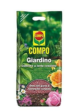 Foto di Compo, Concime Granulare a lenta cessione per le colture del giardino, tappeti erbosi, aiuole, cespugli, arbusti, piante ad alto fusto, 4 Kg, 5x7,9x22,5 cm