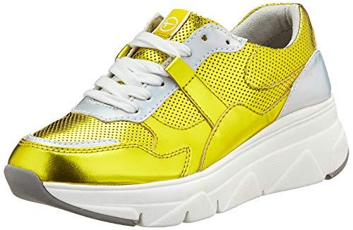 Tamaris Damen 1-1-23741-24 Sneaker, Gelb (Sun Metallic 661), 39 EU