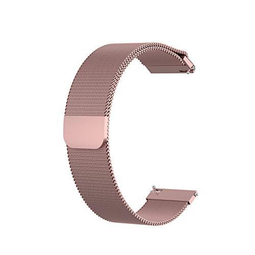 YFC Correa de Reloj de Acero Inoxidable de Malla 12 mm / 18 mm / 20 mm / 22 mm Pulsera de Metal de Repuesto Pulsera de Acero Inoxidable con Cierre magnético Smartwatch Correa de Repuesto