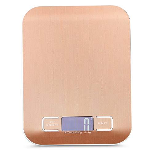QLL Digitale keukenweegschaal, 6 weegeenheden, hoog met nauwkeurige elektronische weegschaal, gewicht tot 10 kg (1-g-nauwkeurig), multifunctionele weegschaal met Tara-functie, nauwkeurig wegen