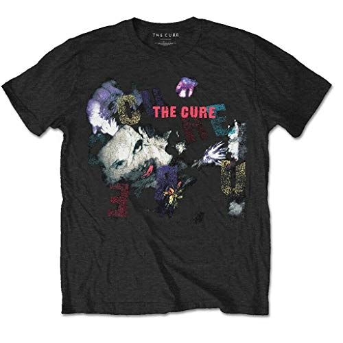 The Cure Camiseta de Manga Corta Gráficos de Tendencia Pirografía Suelta con Cuello Redondo Camiseta 3D Moda con Cuello en o Estudiante Ocio Viaje Viaje Trabajo