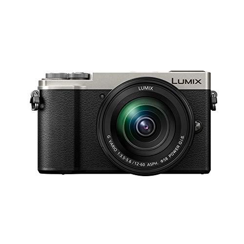 Panasonic Lumix GX9M | Appareil Photo Hybride Compact + Objectif Lumix 12-60mm (Capteur 4/3 20MP, Double stab., Viseur Inclinable, Écran inclin. tact., AF DFD, Vidéo 4K) Silver – Version Française